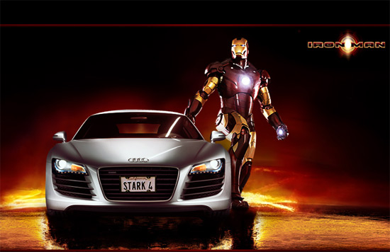 audi R8 and ironman