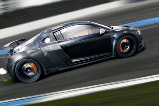 The car is based on the Audi R8 and has had an extensive makeover using