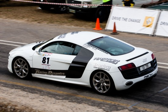 NU5V6277 550x366 RENM Audi R8 V10 competitive in Knysna Hillclimb race, South Africa
