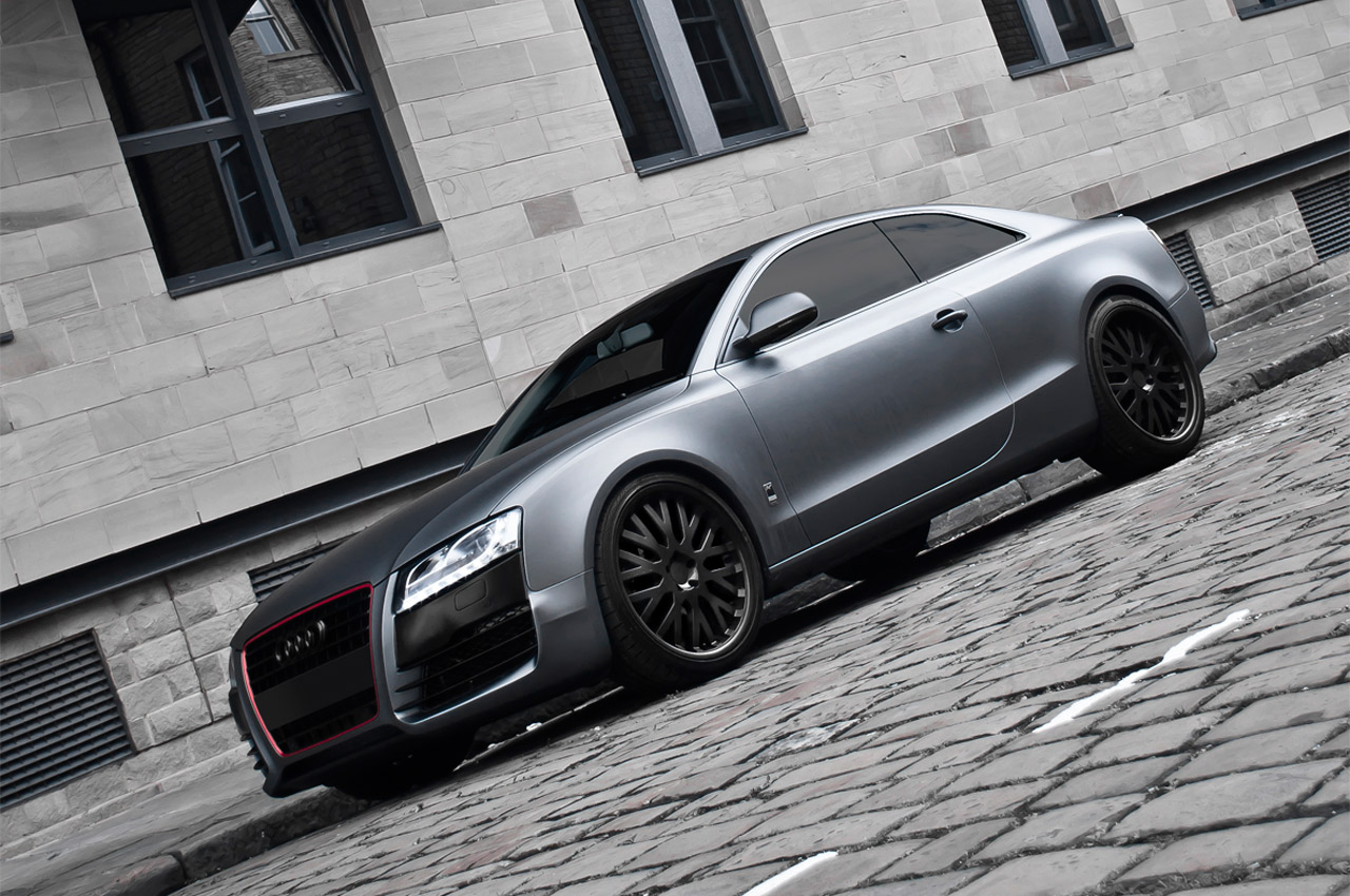 audi a5 coupe kahn grey 6 audi tuning mag. Black Bedroom Furniture Sets. Home Design Ideas