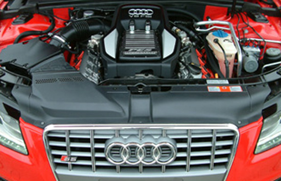 S5 engine bay Audi Superchargers UK introduce the upgraded PES G4 Supercharger kits for the Audi R8 V8, Audi RS4 (B7) and Audi S5 (V8)