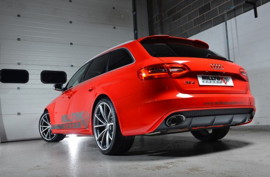 Milltek Audi Rs4 Three Quarter 550x360 Milltek Launches New Audi Systems at Autosport International