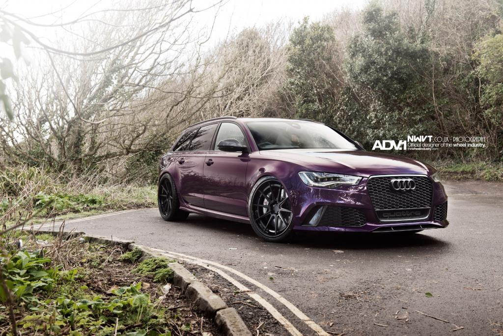 audi rs6 avant on adv 1 wheels. Black Bedroom Furniture Sets. Home Design Ideas