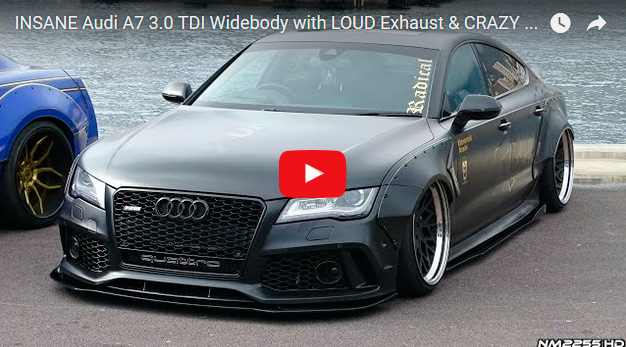 INSANE Audi A7 3.0 TDI Widebody with LOUD Exhaust & CRAZY Mods!