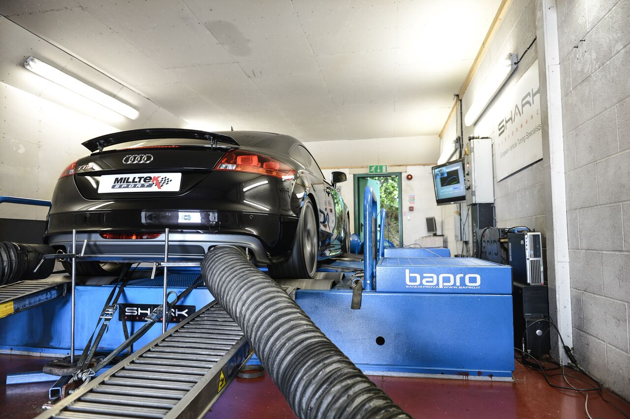 cast downpipes audi tt dyno